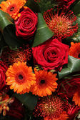 Orange and red bouquet — Stock Photo