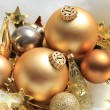 Golden Christmas decorations — Stock Photo #30326455