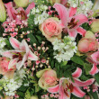 Stock Photo: Pink and white bridal arrangement