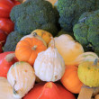 Broccoli and pumpkins — Stock fotografie