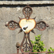 Old cast iron cross ornament — Stock Photo #30486829