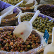 Stock Photo: Olives at french market