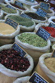 Herbs and spices at a French market — Stok fotoğraf