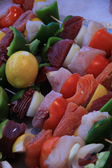 Fish shashlik — Stockfoto
