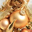 Golden Christmas decorations — Stock Photo #30565263