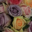 Pastel roses in bridal arrangement — Stock fotografie