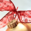 Kerstdecoraties in rood en goud — Stockfoto