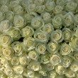 Group of white roses, wedding decorations — Stok fotoğraf