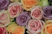 Soft pink wedding arrangement — Stock Photo