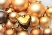 Christmas ornaments: 50 shades of gold — ストック写真
