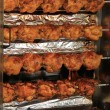 Stock Photo: Chicken on grill