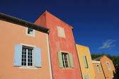 Colored facades in Roussillion — Stock Photo