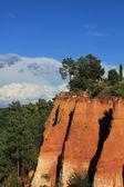 Ochre rocks in Roussillion, France — Stock Photo