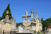Grave ornaments at an old French cemetary — Stock Photo