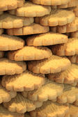 Stacked biscuits — Stock Photo