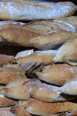 French bread at a market — Stock Photo