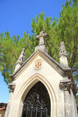 Nagrobek z krzyża ornament na cmentarz francuski — Zdjęcie stockowe