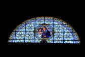 Stained glass church window — Stock Photo