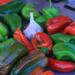 Stock Photo: Peppers and garlic