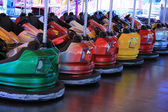 Dodgem cars in a row — Stock Photo