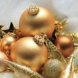Golden Christmas decorations — Stock Photo #32044085