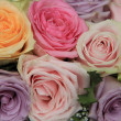Pastel roses in bridal arrangement — Stock Photo #32044169