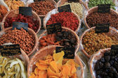 Kanderad frukt och nötter — Stockfoto