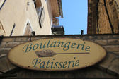 Bread and confectionary sign in France — Stockfoto