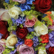 Roses and hydrangea wedding arrangement — Stok fotoğraf