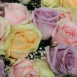 Pastel roses in bridal arrangement — Stock Photo #32837423