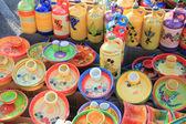 Cerâmica em um mercado — Fotografia Stock