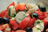 Tomato Cheese salad — Stock Photo