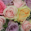 Pastel roses in bridal arrangement — Stock Photo #35369439