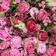 Foto Stock: Mixed pink flower arrangement