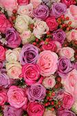 Pastel wedding flowers — Stock Photo