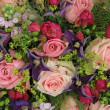 Wedding arrangement in pink and purple — ストック写真