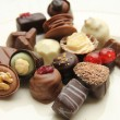 Stock Photo: Decorated chocolates