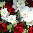 Red and white bridal arrangement — Foto Stock