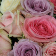Pastel roses in bridal arrangement — Stock Photo #35989665