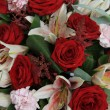 Lilies and roses in bridal flowers — Stock Photo #36952001