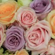 Pastel roses in bridal arrangement — Stock Photo #37764361