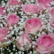 Pink roses in bridal arrangement — Stock Photo