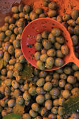 Olives at a French market — Stock Photo