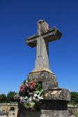 Tombstone at a French cemetery — Stock Photo