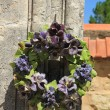 Ceramic flowers funeral wreath — Stock Photo #41514467