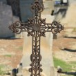 Tombstone with cross ornament at French cemetery — Stock Photo #41514805