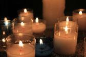 教会での奉納の蝋燭 — ストック写真