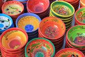 在 marketp 的陶器 — 图库照片