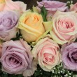Pastel roses in bridal arrangement — Stock Photo #41600319