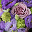 Bridal arrangement in different shades of purple — Stock Photo #41603097